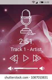 Music player application interface