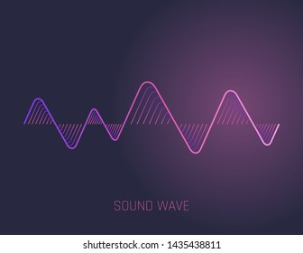 Music sound waves isolated on white background. Audio equalizer technology, pulse musical. illustration