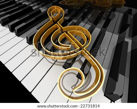 Royalty Free Stock Illustration Of Music Symbol On Piano Keys Stock