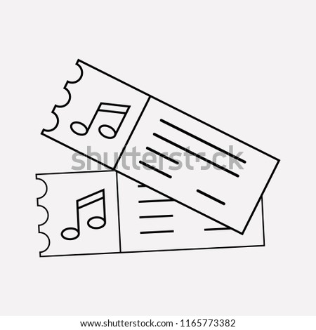 Royalty Free Stock Illustration Of Music Tickets Icon Line Element