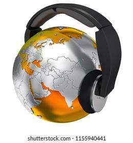 music world concept high quality 3d illustration