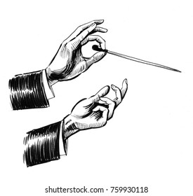 Musical conductors hands