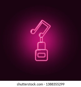 musical cup icon. Elements of Sucsess and awards in neon style icons. Simple icon for websites, web design, mobile app, info graphics