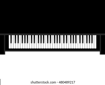 Musical flat background. Piano key, keyboard. Melody. Instrument.