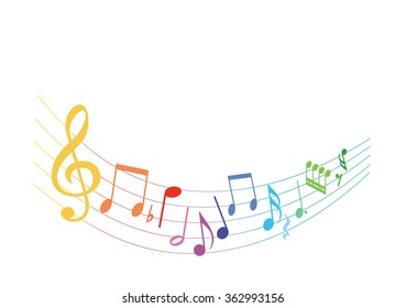 musical note background colorful