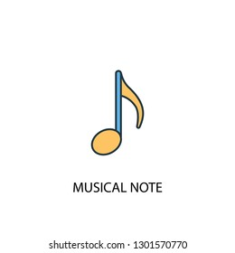 musical note concept 2 colored line icon. Simple yellow and blue element illustration. musical note concept outline symbol design from Music set