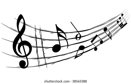 Music Stave Notes Vector Illustration On Stock Vector Royalty Free