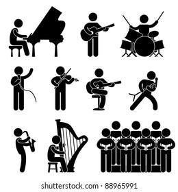 Musician Pianist Guitarist Choir Drummer Harpist Singer Concert