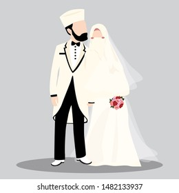 Muslim character designs on the wedding day