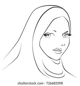Muslimah in hijab