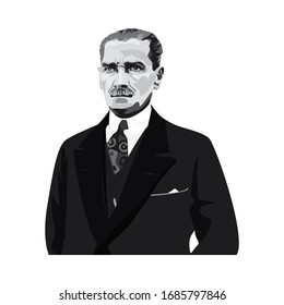 Mustafa Kemal Ataturk picture. Turkish republic founder Mustafa Kemal Ataturk. The first turkish president Mustafa Kemal Ataturk. 1881-1938