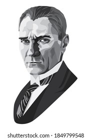 Mustafa Kemal Ataturk picture. Turkish republic founder Mustafa Kemal Ataturk. The first turkish president Mustafa Kemal Ataturk. 1881-1938