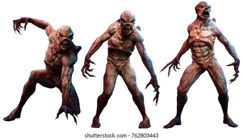 Mutant horrors 3D illustration