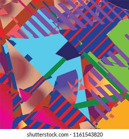 my variety of colorful graphic abstract art