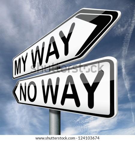 my way no way take highway stock illustration 124103674 shutterstock