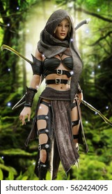 Fantasy world wood elf