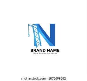 N construction Logo Design Concept