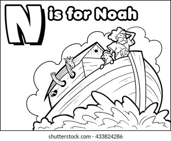 N is for Noah Coloring Activity
