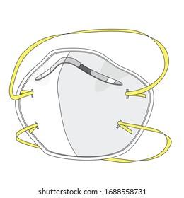 N95 respirator mask for coronavirus protect against virus.