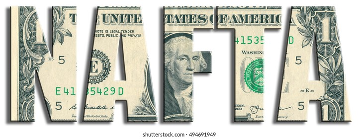 NAFTA - North American Free Trade Area. US Dollar texture.