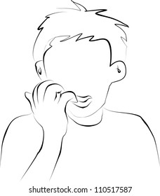 Biting Nails Kid Stock Illustrations Images Vectors Shutterstock