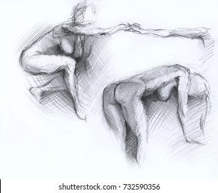of Pencil women drawings naked
