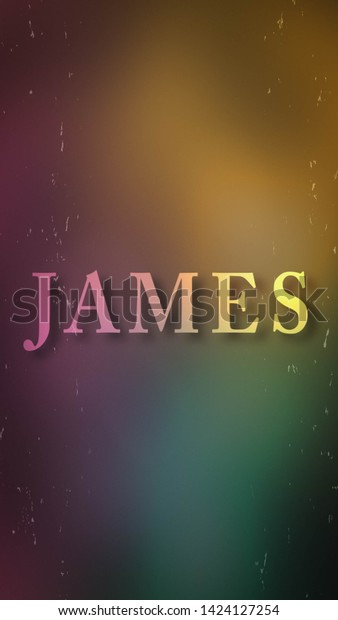 Name James Against Grainy Background Suitable Stock