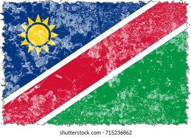 Namibia flag grunge background. Background for design in country flag