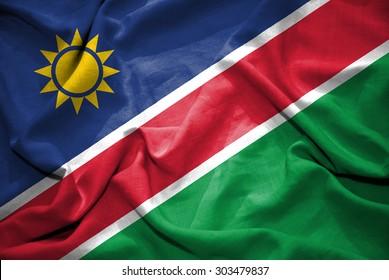 Namibia flag. illustration