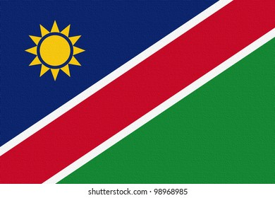 Namibia flag printed on canvas.
