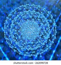 Nanostructure - 3d rendered illustration