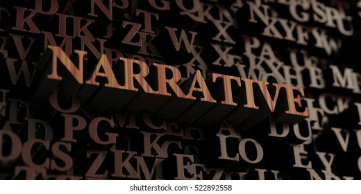 Narrative - Wooden 3D rendered letters/message.  Can be used for an online banner ad or a print postcard.
