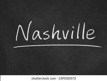 Nashville concept word on a blackboard background