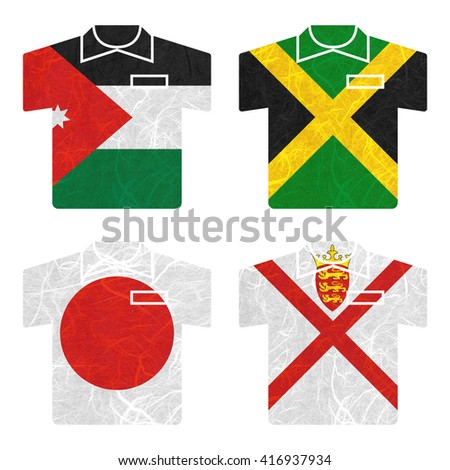 Nation Flag Shirt Recycled Paper On Stock Illustration