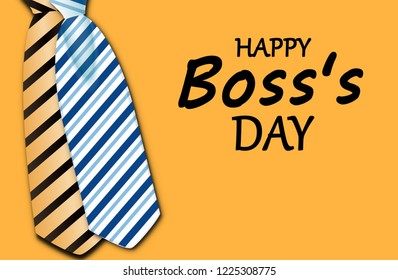 National Boss's Day background. Template Design style.illustration