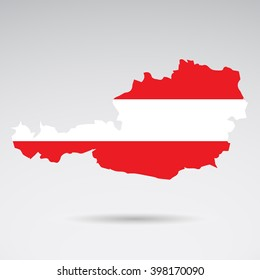 National colors and flag of Austria.