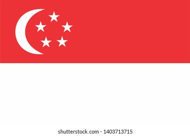 national country flag of Singapore