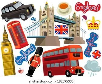 National elements - illustration for the children