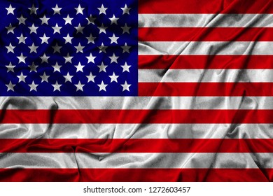 National Flag of America United States. Textured flag of USA.