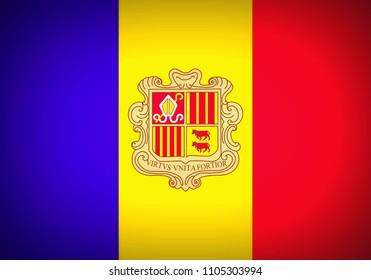 National flag of Andorra – Principality of Andorra
