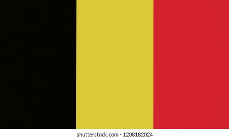 National flag of Belgium can be used to design.3D illustration,3D rendering