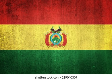 National flag of Bolivia. Grungy effect.