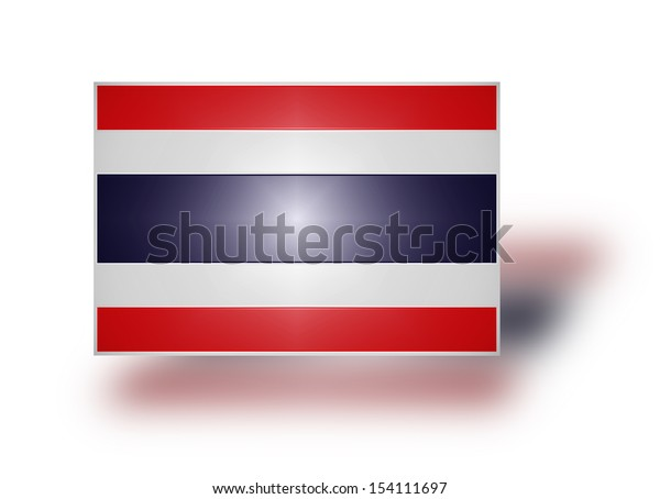 National flag and civil and state ensign of the Kingdom of Thailand (stylized I).