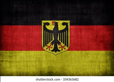 National flag with coat of arms (Bundesflagge mit Bundeswappen) flag pattern, retro vintage style