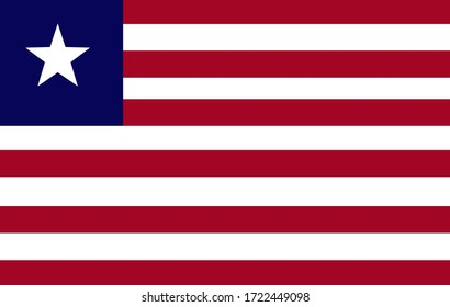 National flag of country Liberia