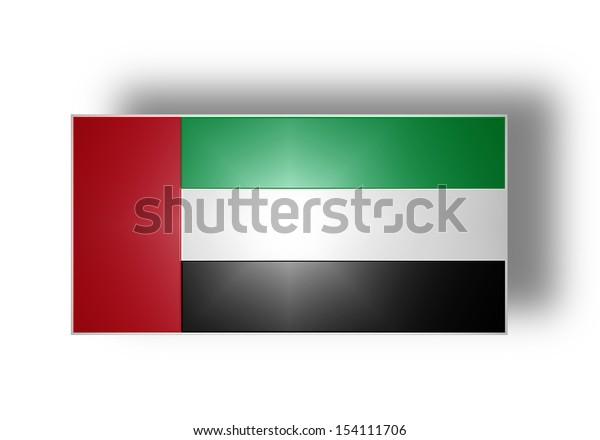 National flag and ensign of the United Arab Emirates (stylized I).