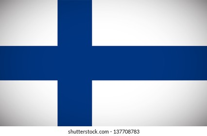 National flag of Finland with correct proportions and color scheme (raster illustration)