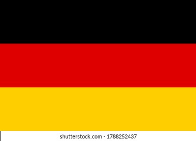 National flag of the Germany. The main symbol of an independent country. An attribute of the large size of a democratic state illustration.