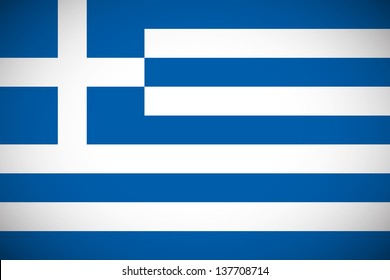 National flag of Greece with correct proportions and color scheme (raster illustration)
