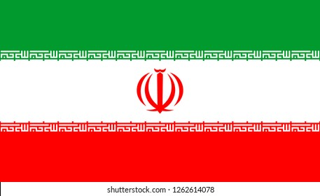 National flag of the Islamic Republic Iran.
